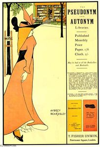 Aubrey Vincent Beardsley - Publicity poster for -The Yellow Book-