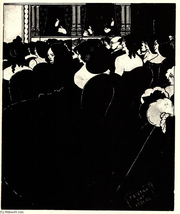 The Wagnerites by Aubrey Vincent Beardsley (1872-1898, United Kingdom) | Museum Art Reproductions Aubrey Vincent Beardsley | ArtsDot.com