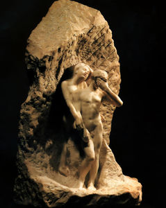 François Auguste René Rodin - Adam and Eve expelled from Paradise