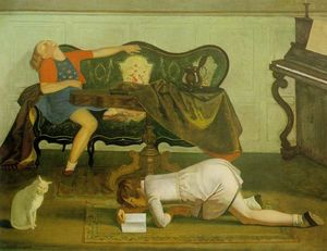 Balthus (Balthasar Klossowski) - Drawing room