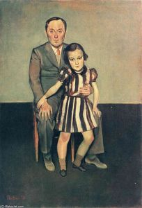 Balthus (Balthasar Klossowski) - Joan Miro and his daughter Dolores