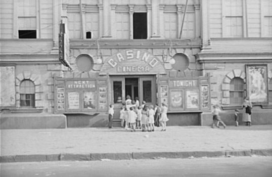 Children lined up at enterance to Casino Cinema, 1935 by Benjamin Shahn (1898-1969, Lithuania) | Oil Painting | ArtsDot.com