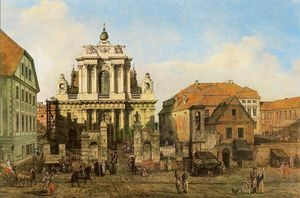 Bernardo Bellotto - Carmelite Church in Warsa..