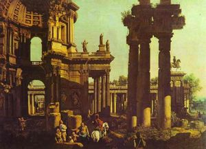 Bernardo Bellotto - Ruins of a Temple