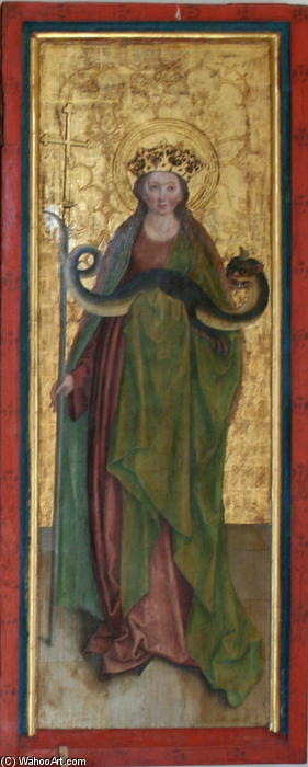 Buy Museum Art Reproductions : Margaret of Antioch by Bernhard Strigel (1460-1528, Germany) | ArtsDot.com