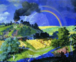 Boris Mikhaylovich Kustodiev - After the storm