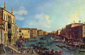 Giovanni Antonio Canal (Canaletto) - A Regatta on the Grand Canal