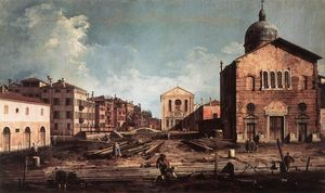 Giovanni Antonio Canal (Canaletto) - View of San Giuseppe di Castello