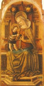 Carlo Crivelli - Madonna and Child Enthroned
