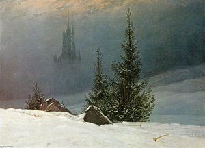 Caspar David Friedrich - Winter landscape