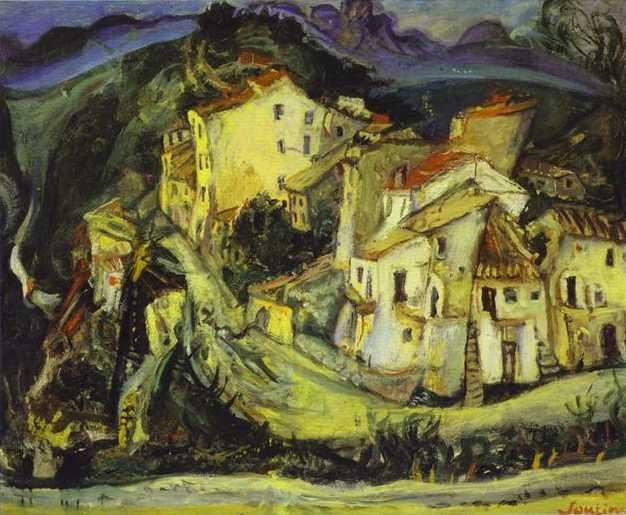 Houses of Cagnes, 1925 by Chaim Soutine (1893-1943, Russia) | Paintings Reproductions Chaim Soutine | ArtsDot.com