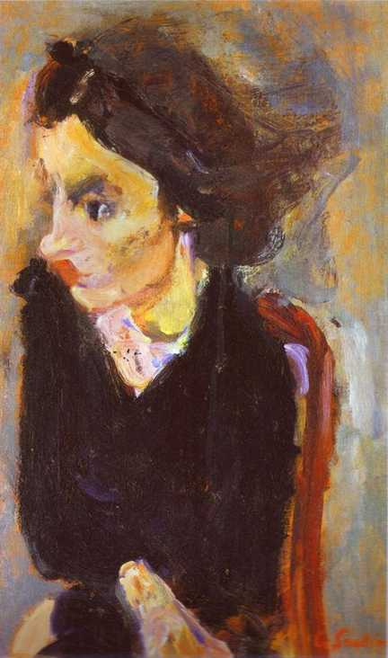 Woman in Profile (Portrait of Madame Tennent), 1937 by Chaim Soutine (1893-1943, Russia) | Museum Quality Copies Chaim Soutine | ArtsDot.com