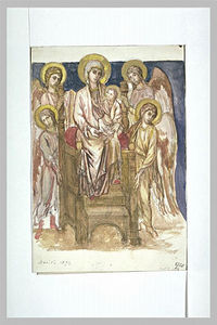 Cimabue - Madonna Enthroned with the Child with Angels