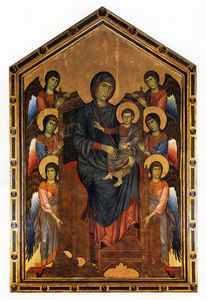 Cimabue - The Virgin and Child in Majesty surrounded by Six Angels