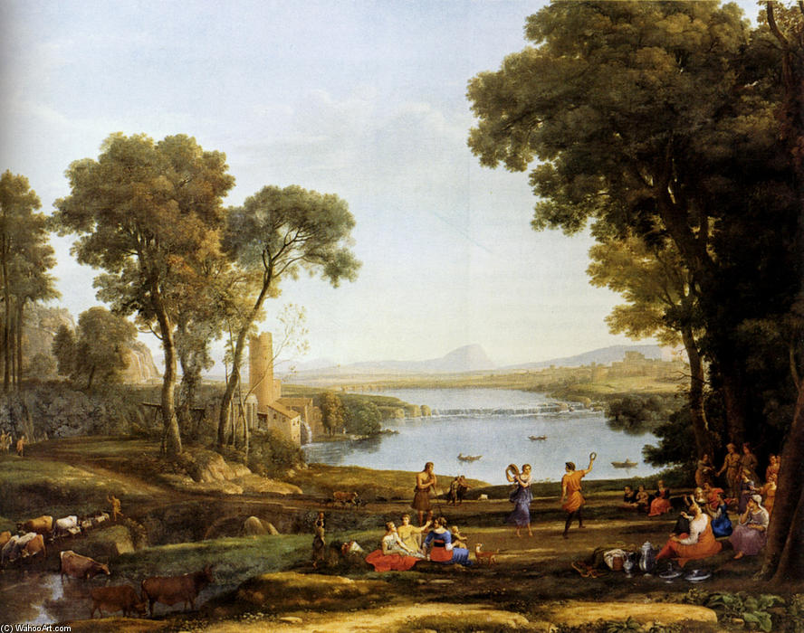 Landscape With The Marriage Of Isaac And Rebekah, Oil On Canvas by Claude Lorrain (Claude Gellée)
