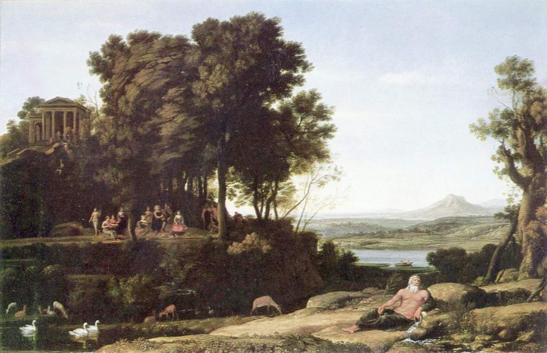 Landscape with Apollo and the Muses, Oil On Canvas by Claude Lorrain (Claude Gellée)