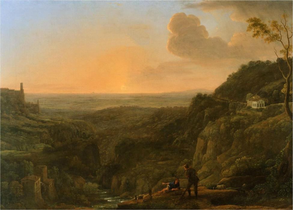 A view of the Roman Campagna from Tivoli by Claude Lorrain (Claude Gellée)