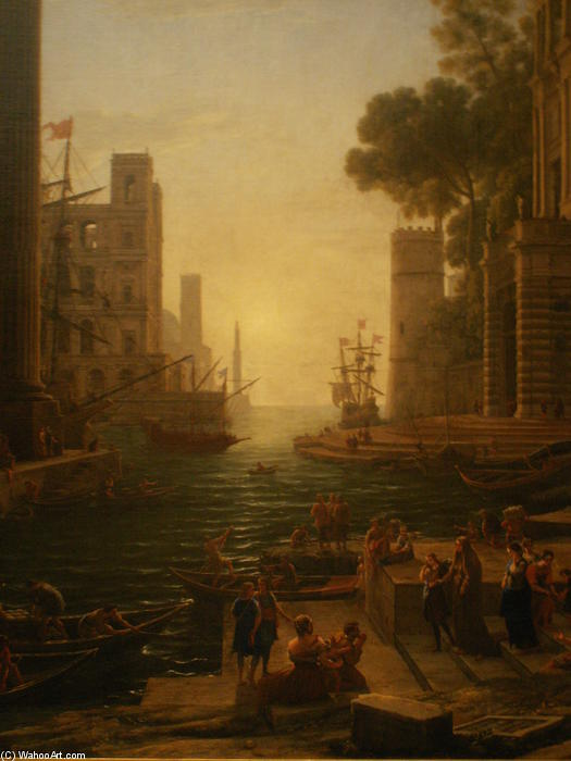 Embarkation of St. Paula in Ostia by Claude Lorrain (Claude Gellée) | Museum Art Reproductions | ArtsDot.com