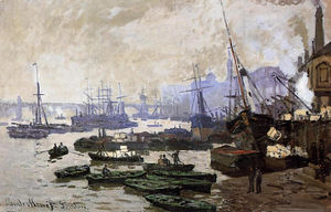 Claude Monet - Boats in the Pool of London