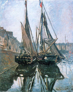 Claude Monet - Fishing Boats at Honfleur