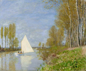 Claude Monet - Small Boat on the Small Branch of the Seine at Argenteuil