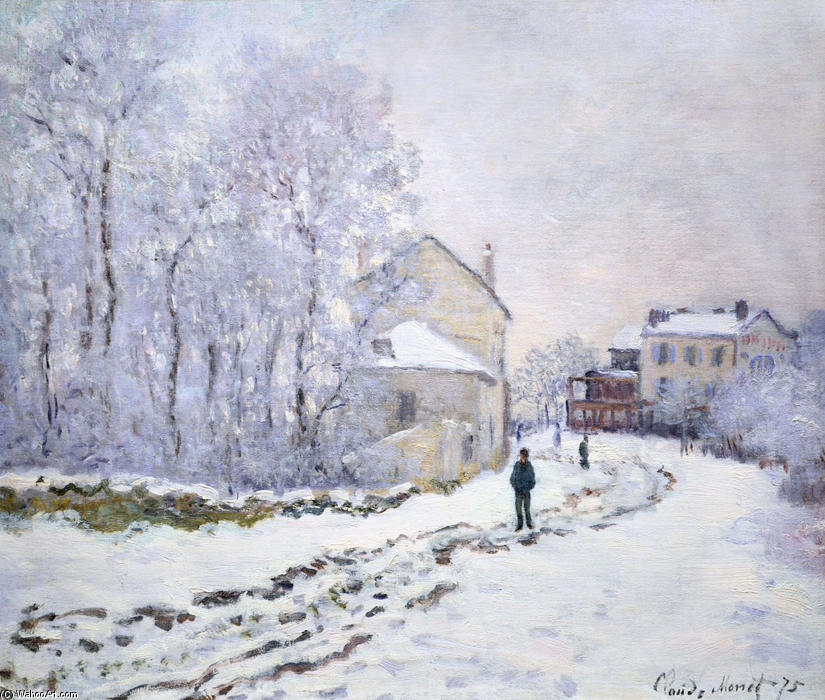 Snow at Argenteuil, 1875 by Claude Monet (1840-1926, France) | Museum Quality Reproductions | ArtsDot.com