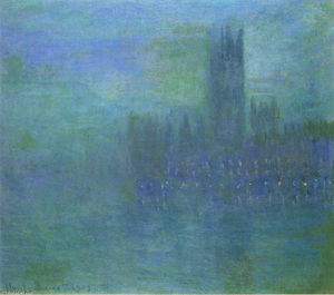Claude Monet - Houses of Parlilament, Fog Effect