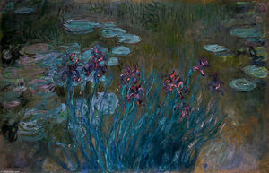 Claude Monet - Irises and Water-Lilies