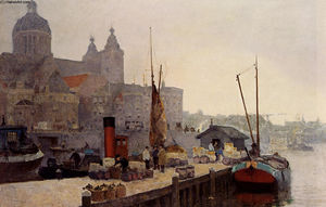 Cornelis Vreedenburgh - A View Of Amsterdam With ..