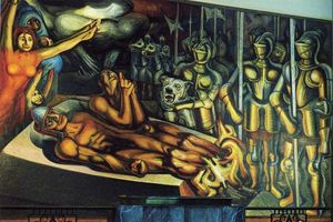 David Alfaro Siqueiros - The Torment of Cuauhtemoc