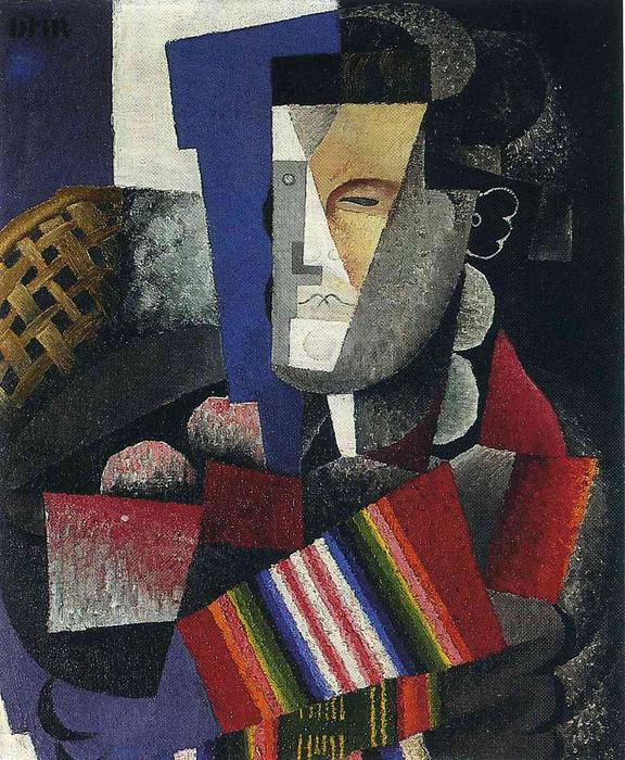 Portrait de Martin Luis Guzman, Oil On Canvas by Diego Rivera (1886-1957, Mexico)