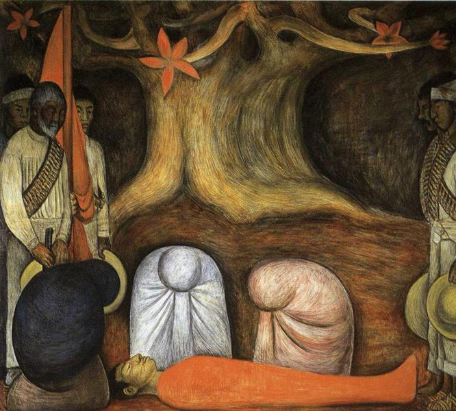 The Perpetual Renewal of the Revolutionary Struggle, Frescoes by Diego Rivera (1886-1957, Mexico)