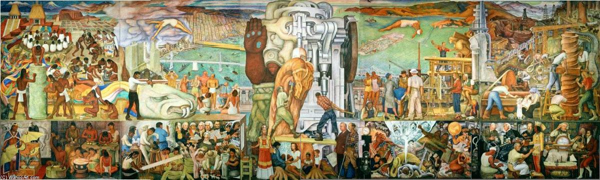 Pan American Unity, 1940 by Diego Rivera (1886-1957, Mexico)
