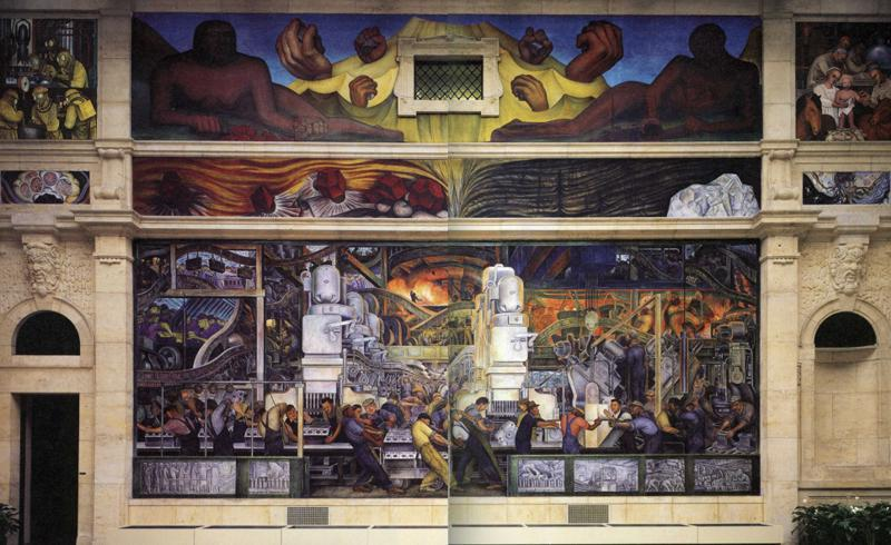 Detroit Industry, North Wall, Frescoes by Diego Rivera (1886-1957, Mexico)