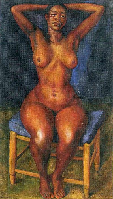 Dancer Resting, Oil On Canvas by Diego Rivera (1886-1957, Mexico)