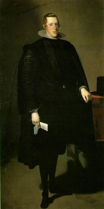 Philip IV of Spain, Oil On Canvas by Diego Velazquez (1599-1660, Spain)