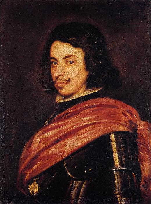 Portrait of Francesco I d'Este, Oil On Canvas by Diego Velazquez (1599-1660, Spain)