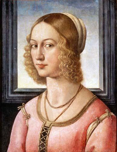 Portrait of Giovanna Tornabuoni, Tempera by Domenico Ghirlandaio (1449-1494, Italy)