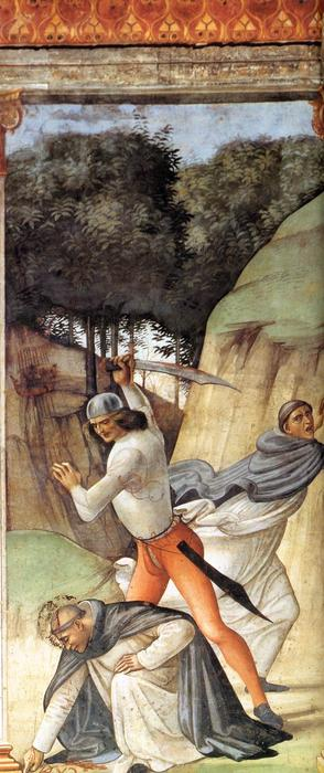 Martyrdom of St Peter Martyr, Frescoes by Domenico Ghirlandaio (1449-1494, Italy)