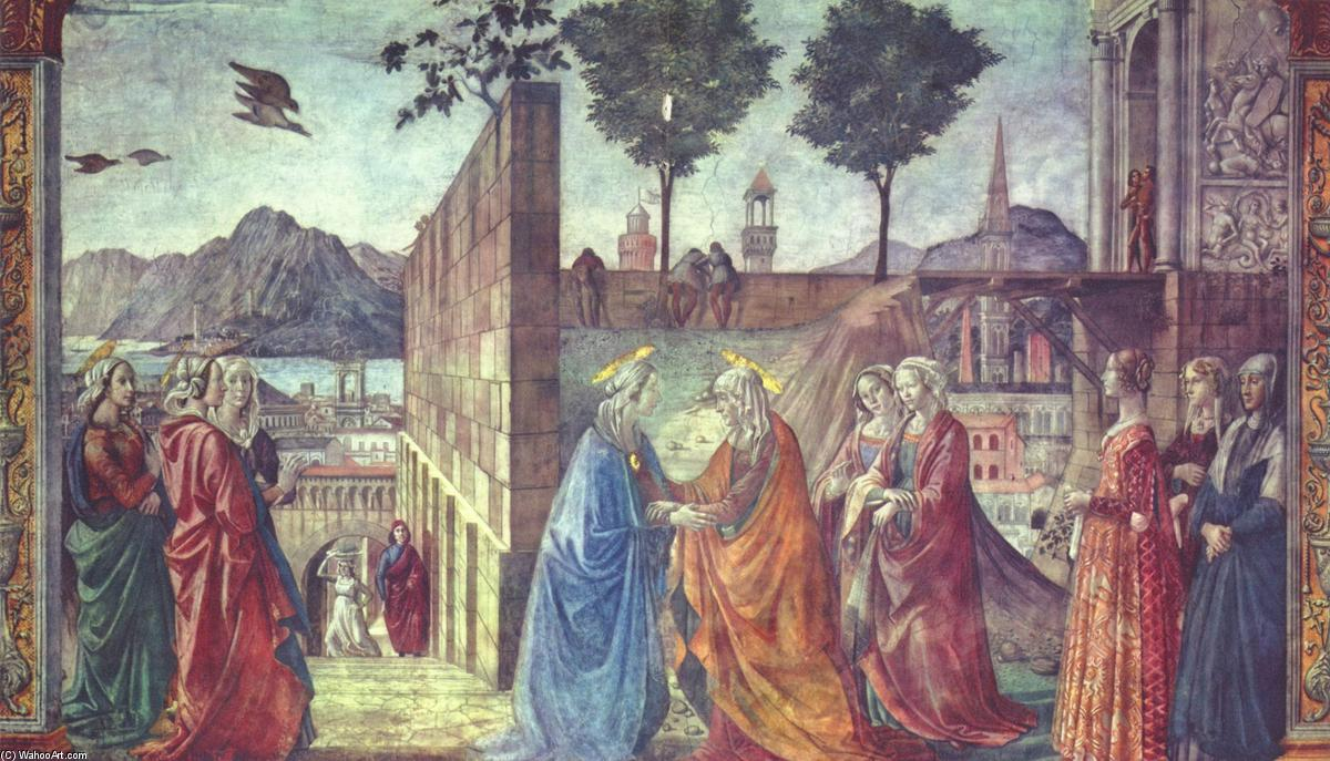The Visitation, Frescoes by Domenico Ghirlandaio (1449-1494, Italy)