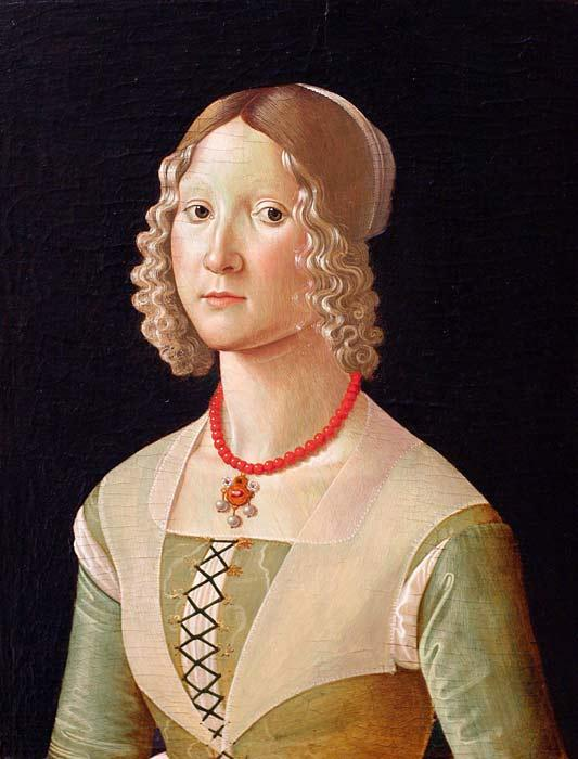 Portrait of Giovane Donna by Domenico Ghirlandaio (1449-1494, Italy)