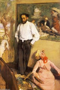 Edgar Degas - Portrait of Henri Michel-Levy in his studio