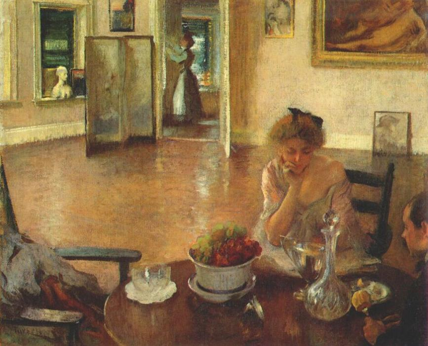 The Breakfast Room, 1903 by Edmund Charles Tarbell (1862-1938, United States)