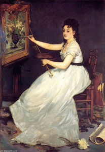 Edouard Manet - Portrait of Eva Gonzales