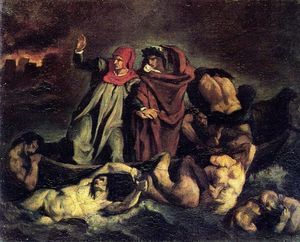Edouard Manet - The barque of Dante (Copy after Delacroix)