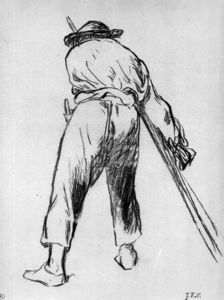 Edouard Manet - Sketch of moving farmer