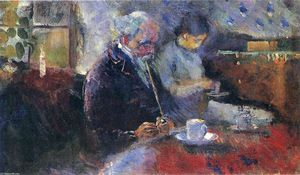 Edvard Munch - At the Coffee Table