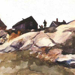Edward Hopper - Rocks at the Fort Gloucester