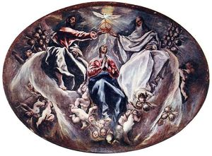 El Greco (Doménikos Theotokopoulos) - Coronation of the Virgin