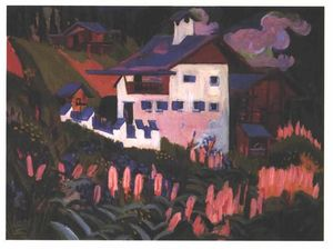 Ernst Ludwig Kirchner - House in the Meadows